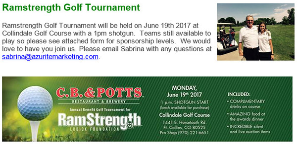 Christopher Musa - Golf Tournament Benefitting RamStrength