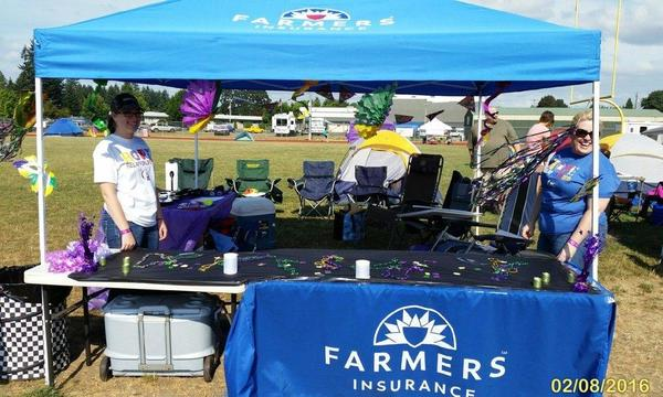 Farmers insurance booth at Relay For Life