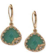 Image of lonna & lilly Gold-Tone Pavé & Colored Stone Bee Drop Earrings