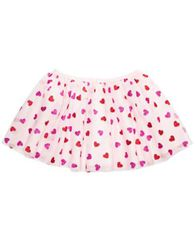 Image of Epic Threads Little Girls Heart-Print Tulle Skirt, Created for Macy's