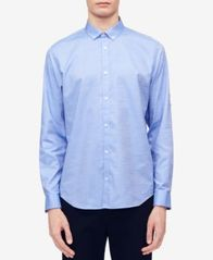 Image of Calvin Klein Men's Herringbone Texture Shirt