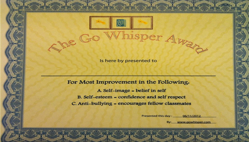 Reward 5th graders with this award and a $25 gift certificate