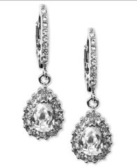 Image of Givenchy Silver-Tone Drop Earrings