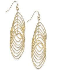 Image of I.N.C. Navette Multi-Ring Drop Earrings, Created for Macy's