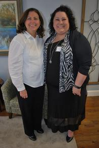 Sales Manager Hope Warren with member of Rutherford Chamber of Commerce