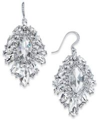 Image of Charter Club Silver-Tone Crystal Cluster Drop Earrings, Created for Macy's