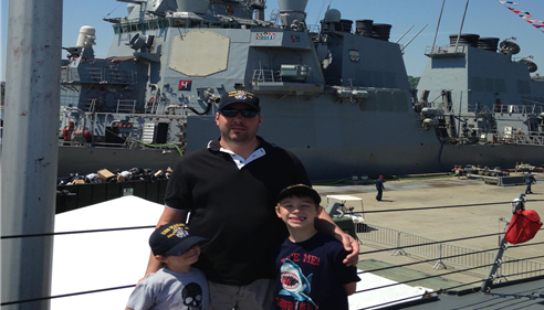 Me and my two sons, David and Sammy at Fleet Week NYC 2015