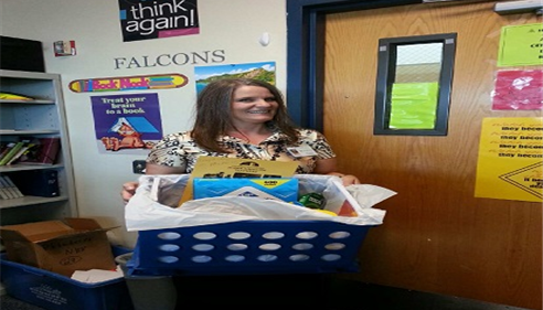 "Congrats to the winner of the ""Classroom Crate"" Drawing at Marana Middle School!"
