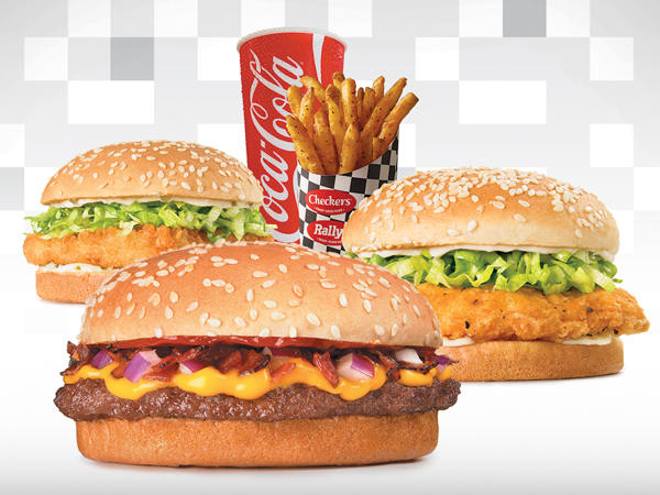COKE, FRIES, CRISPY FISH, SPICY CHICKEN, BURGER