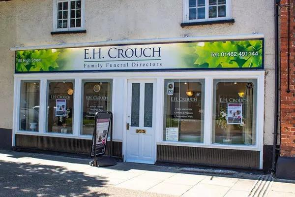 E H Crouch Funeral Directors at Hitchin Street, Baldock, Hertfordshire