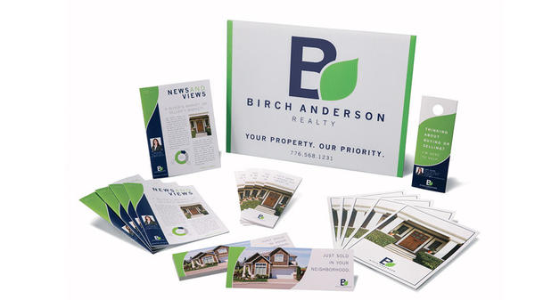 birch anderson realty custom designed marketing materials