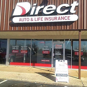 Front of Direct Auto store at 2021 Highway 72 East, Corinth