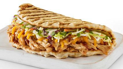 BBQ Chicken Flatbread with Fresh Slaw
