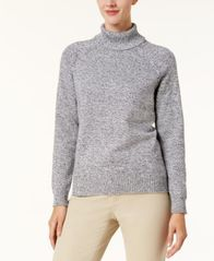 Image of Karen Scott Cotton Turtleneck Sweater, Created for Macy's