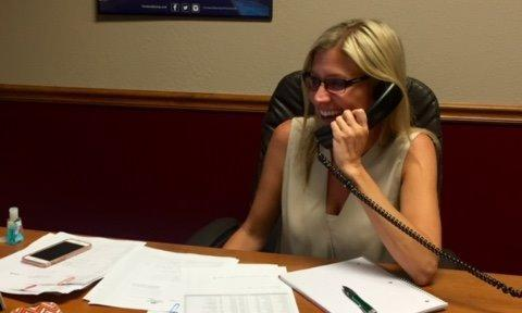Jennifer Holt, our Sales Producer, is always working so hard and always has a smile on her face!