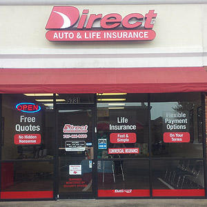 Front of Direct Auto store at 5731-A Poplar Hall Drive, Norfolk