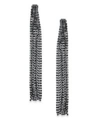 Image of I.N.C. Crystal Chain Linear Drop Earrings, Created for Macy's