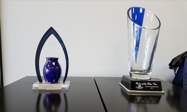 I'm proud to be one of the select few to earn the Blue Vase not one but twice!