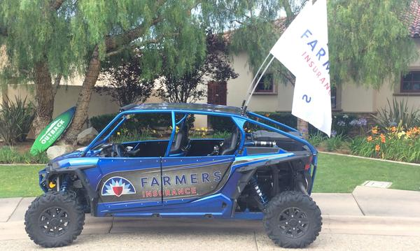 Our agency Polaris RZR on hand for the local muscular dystrophy charity event.