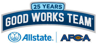 Diana Wickman - Garland Represented on 2016 Allstate AFCA Good Works Team