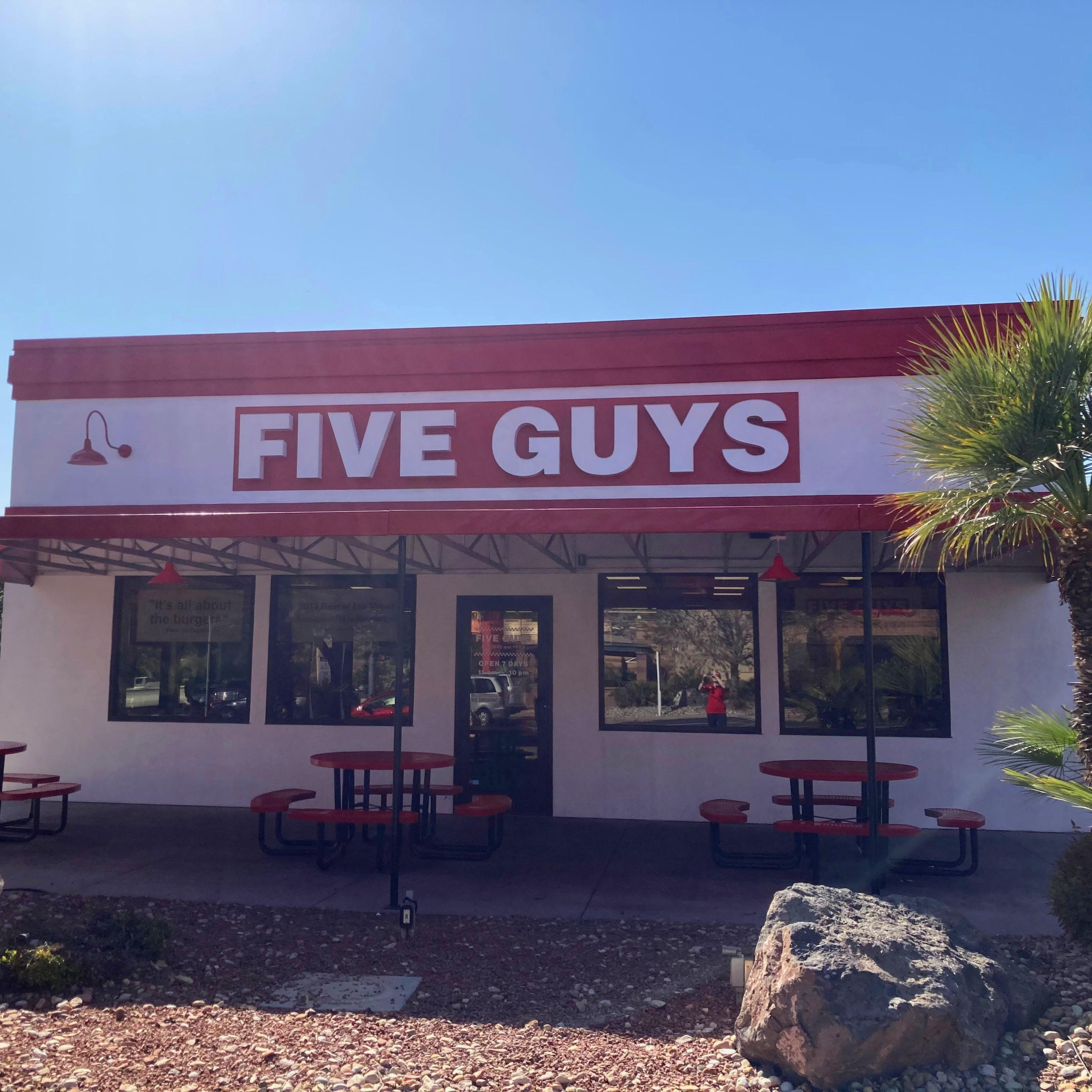 Five Guys at 1279 East 100 South in St. George, UT.
