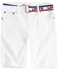 Image of Levi's® Big Boys 511 Belted Slim-Fit Sueded Shorts