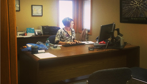 Our Agency Exec, Kristi. Stop by for a visit, 3200 Mesa Way, Ste D, Lawrence, KS
