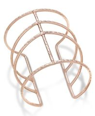 Image of INC International Concepts Rose Gold-Tone Open Cuff Bracelet, Created for Macy's
