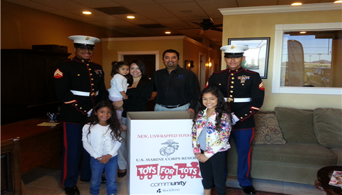 Our whole family participated in Toys for Tots this past Holiday season