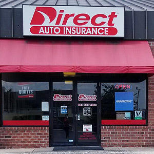 Front of Direct Auto store at 2110 Greenridge Road, North Charleston