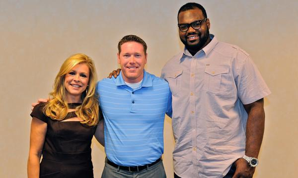 A fun meeting with Leigh Anne Touhy and Michael Ohr portrayed in the movie The Blind Side