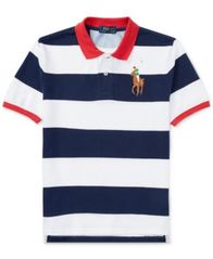 Image of Ralph Lauren Striped Cotton Polo Shirt, Big Boys
