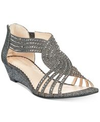 Image of Charter Club Ginifur Wedge Sandals, Created for Macy's