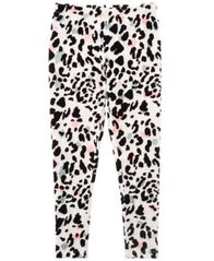 Image of Epic Threads Flocked Leopard-Print Leggings, Big Girls, Created for Macy's