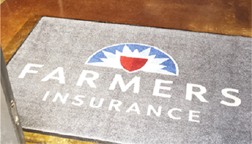 welcome mat with the farmers logo