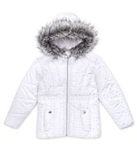 Image of S. Rothschild Toddler Girls Foil Print Puffer Jacket