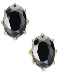 Image of kate spade new york Gold-Tone Stone Oval Stud Earrings