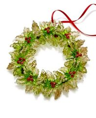 Image of Holiday Lane Green Wreath with Berries Ornament, Created for Macy's