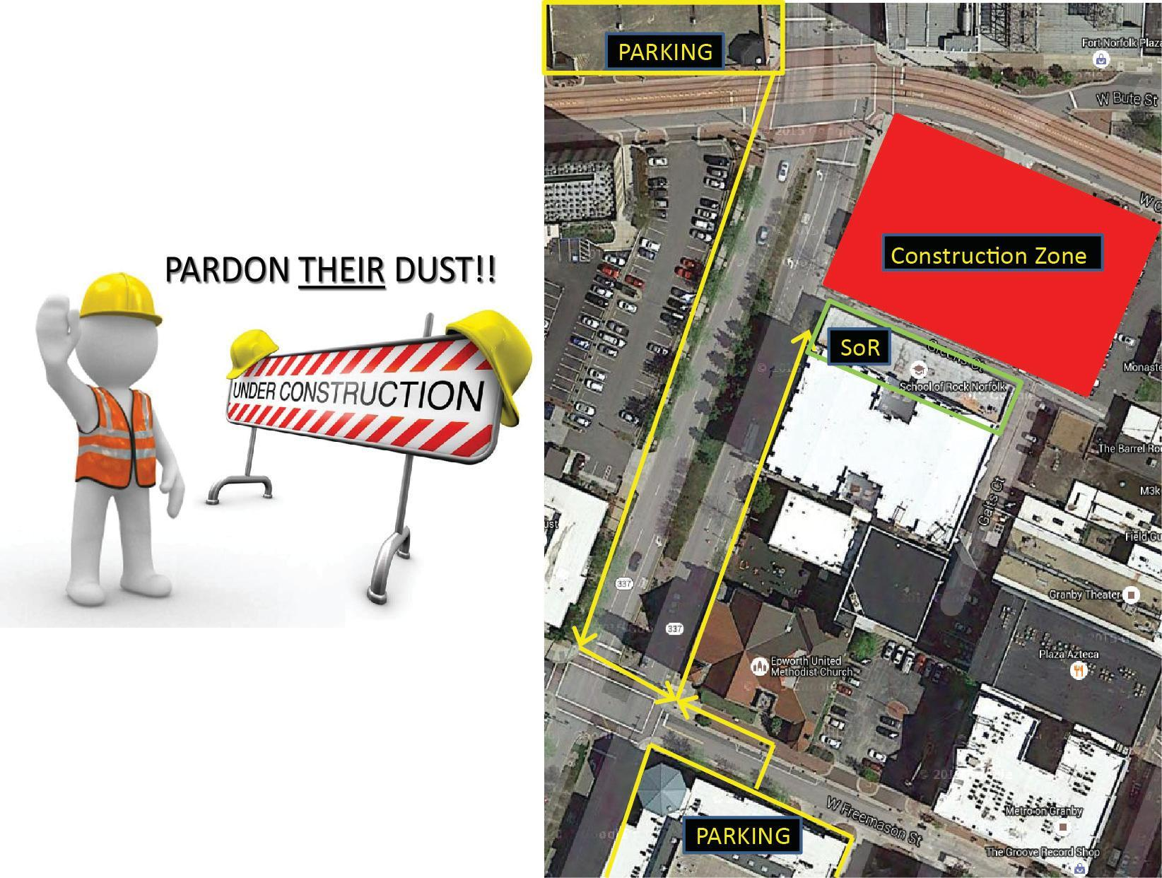 Image of WHERE TO PARK during Construction