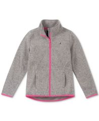 Image of Nautica Big Girls Heathered Polar Fleece Jacket