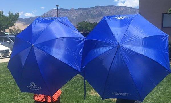 Our custom Farmers Umbrellas!