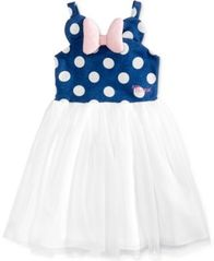 Image of Disney's® Minnie Mouse Polka Dot & Mesh Dress, Little Girls
