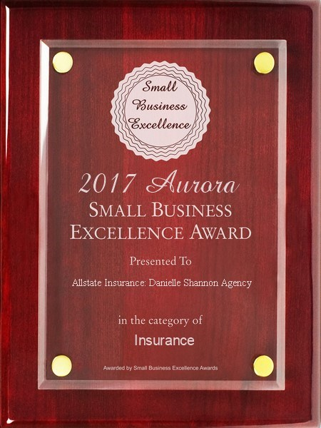Danielle Shannon Agency - 2017 Aurora Small Business Excellence Award