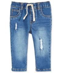 Image of First Impressions Destructed Denim Jeans, Baby Boys, Created for Macy's