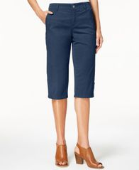 Image of Style & Co Snap-Button Capri Pants, Created for Macy's