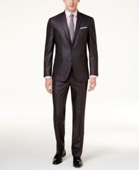 Image of Kenneth Cole Reaction Men's Techni-Cole Basketweave Slim-Fit Suit