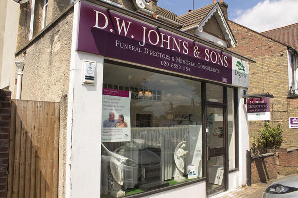 D W Johns & Sons Funeral Directors in Chingford, London.