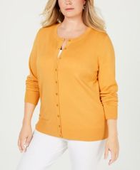 Image of Charter Club Plus Size Cardigan Sweater, Created for Macy's