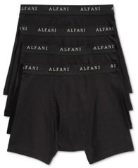 Image of Alfani Men's 4 Pack. Cotton Boxer Briefs, Created for Macy's