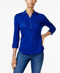 Image of Karen Scott Cotton Polo Top, Created for Macy's